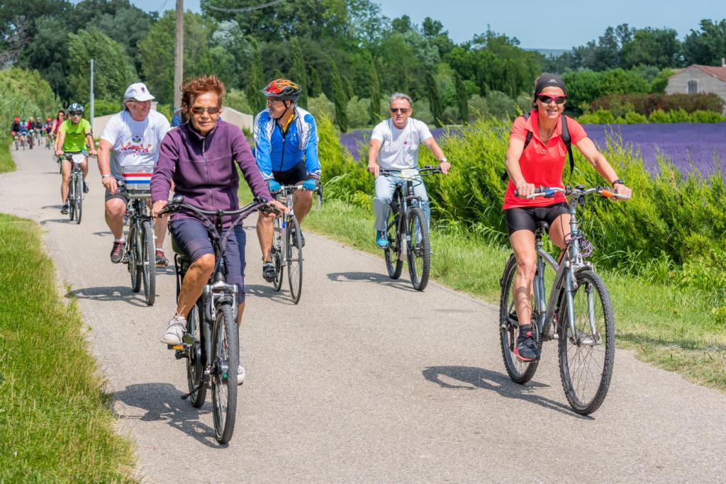 Cyclo dans la plaine du Rhône à Lapalud